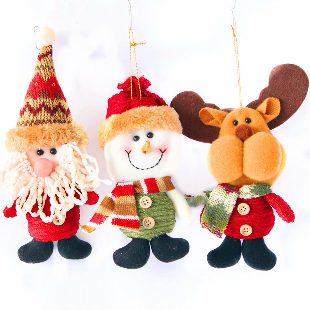 Cute Santa Snowman Deer Christmas Decoration Gift Doll Christmas Tree Hanging Ornament