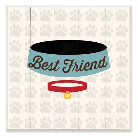 - Best Friends Dog Collar And Bowl Art Wall Plaque