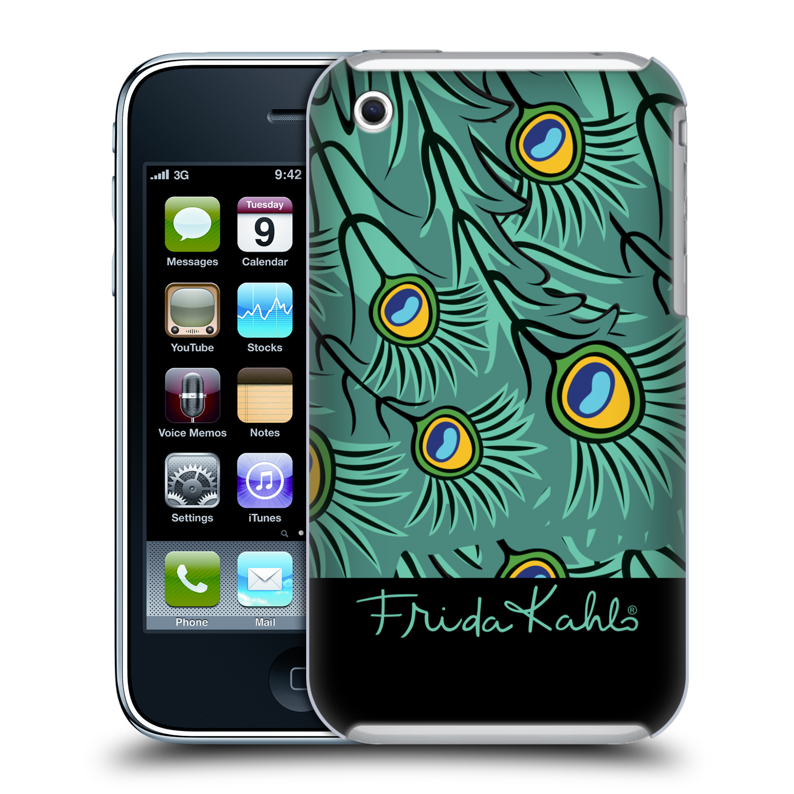 OFFICIAL FRIDA KAHLO PEACOCK HARD BACK CASE FOR APPLE IPHONE PHONES