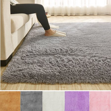 3 Sizes Modern Rectangle Soft Fluffy Floor Rug Anti-skid Shag Shaggy Area Rug Bedroom Dining Room Carpet Yoga Mat Child Play Mat ()