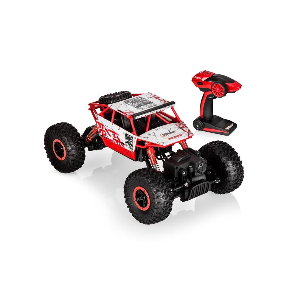 Top Race Remote Control Rock Crawler, RC Monster Truck 4WD, Off Road Vehicle, 2.4Ghz Batteries Included (TR-130)