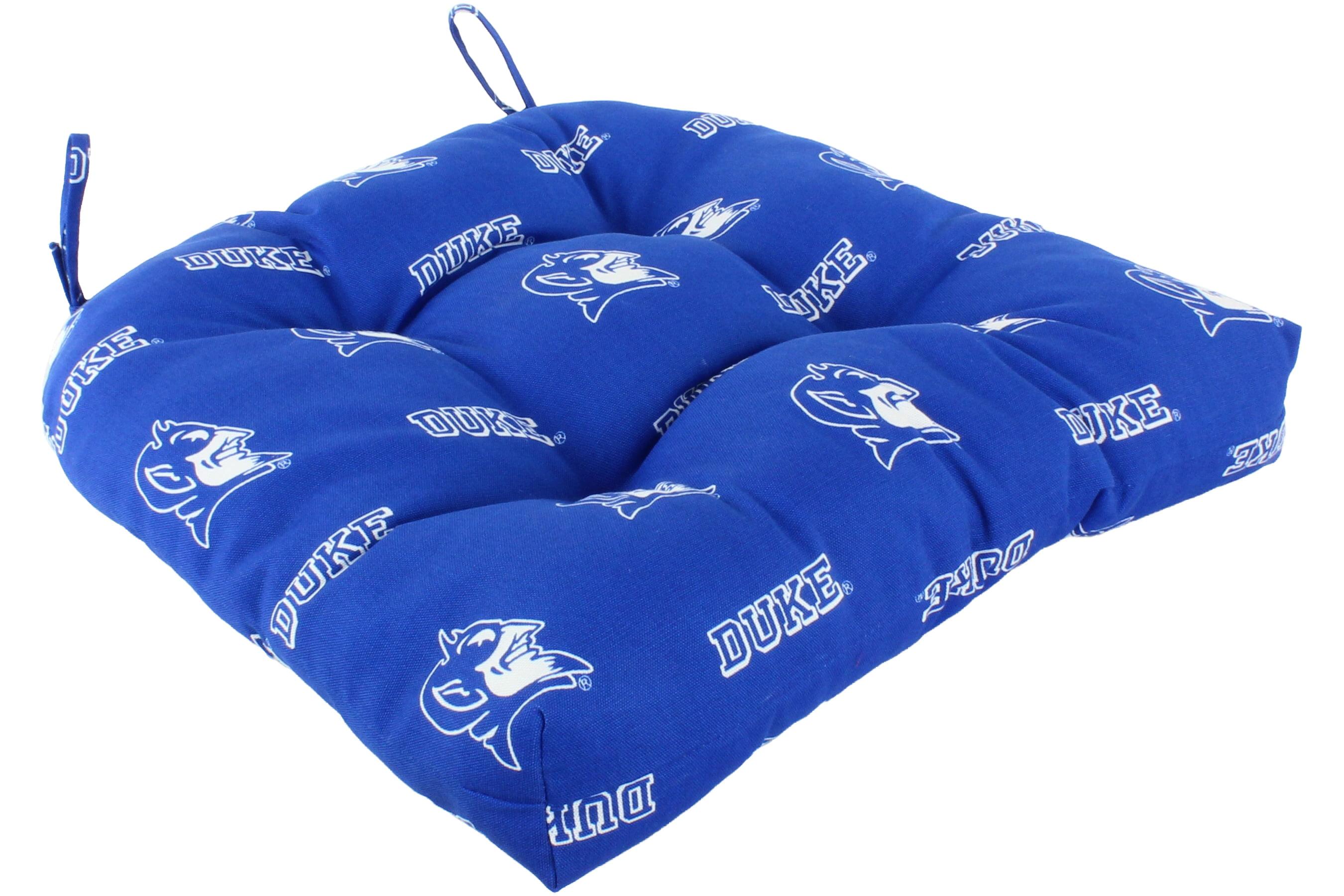 College Covers Duke Blue Devils Indoor Outdoor Seat Cushion Patio D Cushion 20 X 20 2 Tie Backs Walmart Com Walmart Com