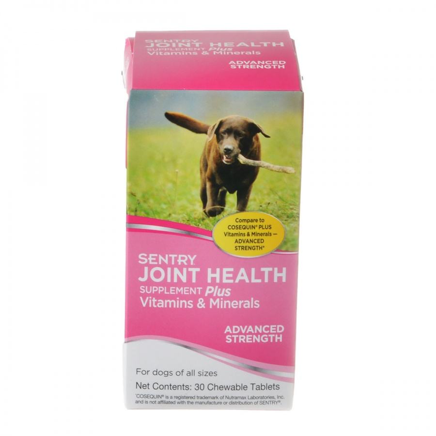 Sentry Joint Health Supplement - Advanced Strength 30 Chewable Tablets - Pack of 10