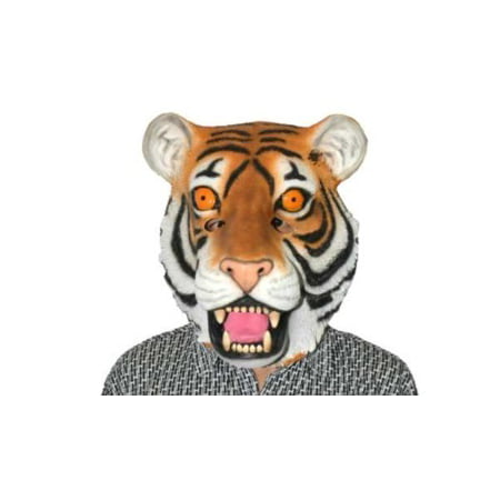 DELUXE LATEX ANIMAL MASK-TIGER