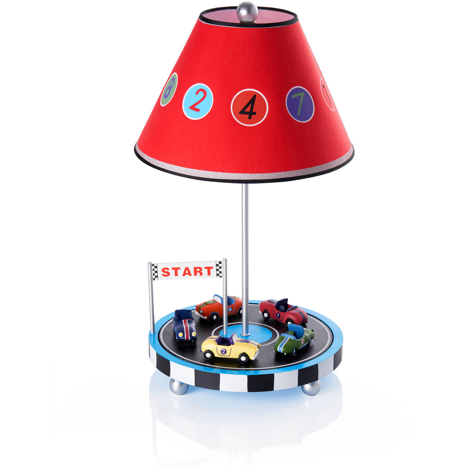 Guidecraft Retro Racers Table Lamp, Red