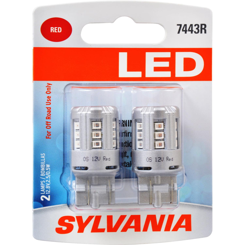SYLVANIA 7443R RED SYL LED Mini Bulb Mini Bulb, Pack of 2