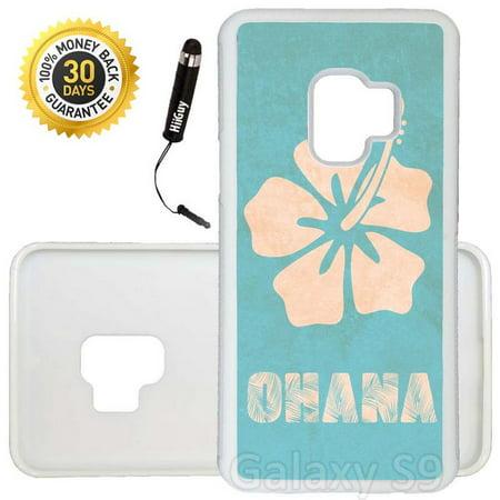 Custom Galaxy S9 Case (Ohana Fashion Design) Edge-to-Edge Rubber White Cover Ultra Slim | Lightweight | Includes Stylus Pen by - Ohana Cover
