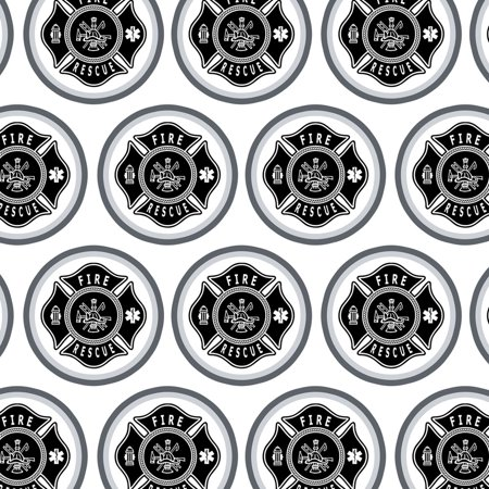 Firefighter Fire Rescue Maltese Cross Premium Gift Wrap Wrapping Paper - Cross Wrap