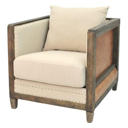 Hartland Arm Chair Rustic Chestnut Frame, Quinoa/Vintage Cider