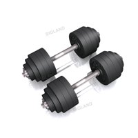 3c583caf9c7 Product Image 105 lbs Adjustable Dumbbell Weight Set of 2 Black Plated Cast  Iron