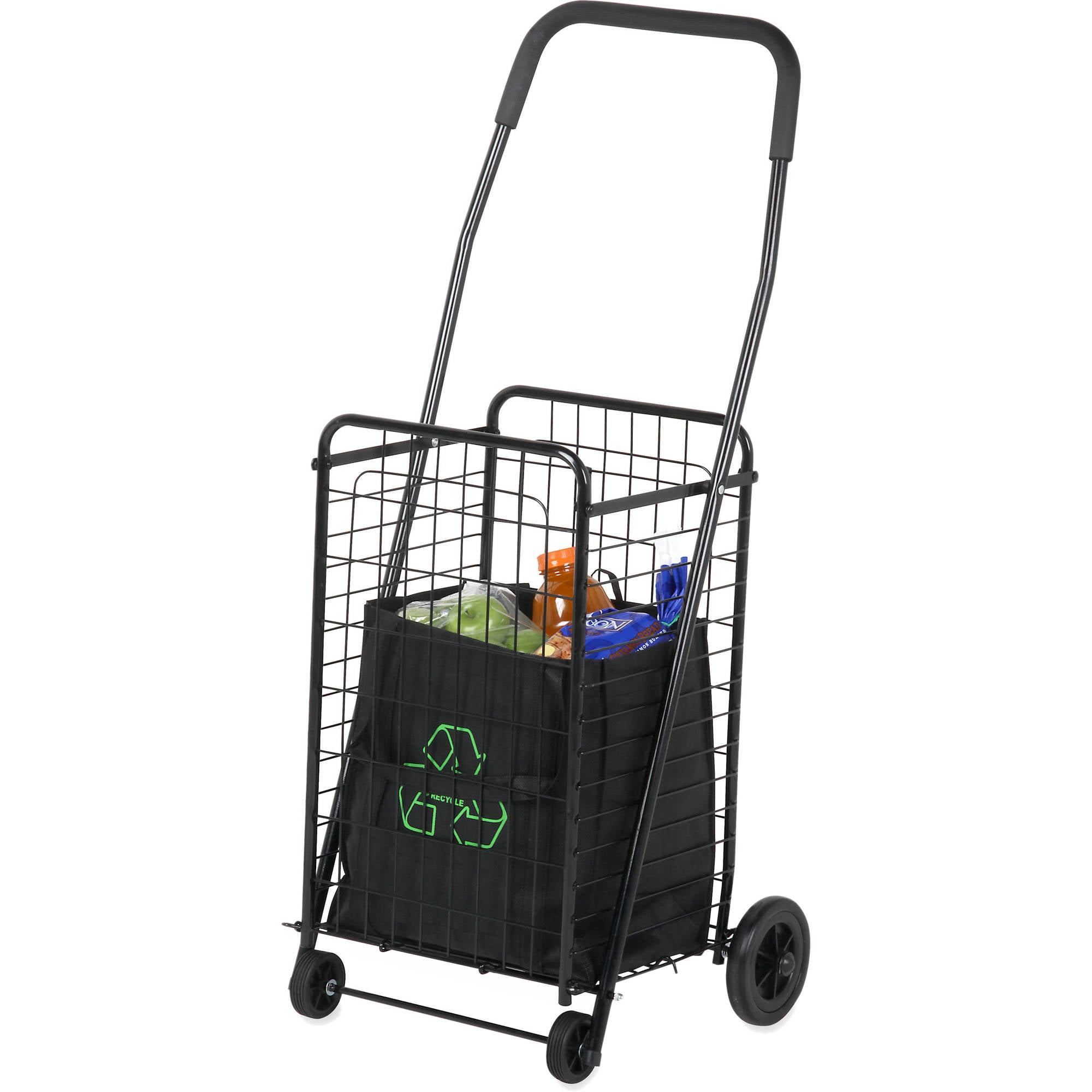 Honey Can Do Steel Folding 4 Wheel Utility Rolling Cart