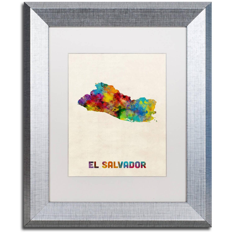 Trademark Fine Art Quot El Salvador Watercolor Map Quot Canvas Art