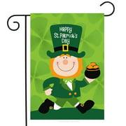 "St. Patrick's Day Leprechaun Garden Flag Pot of Gold 12.5"" x 18"" Briarwood Lane"