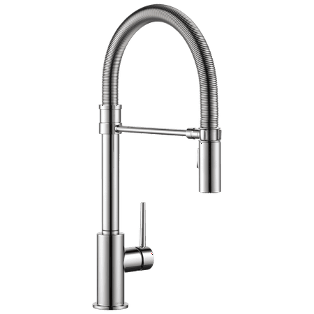 Trinsic Single Handle Pull-Down Kitchen Faucet with Spring Spout in Chrome 9659-DST