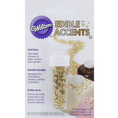 Wilton Edible Glitter, Gold Stars .04 oz. 703-200
