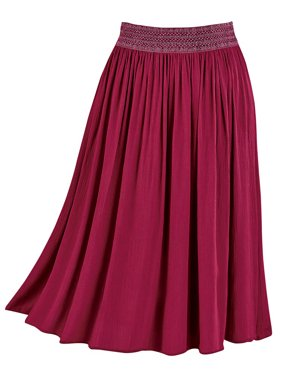 26d7192120 Product Image Women's Easy-Fit Crinkle Skirt, Pull-On with Embroidered  Waist, Stretchy,