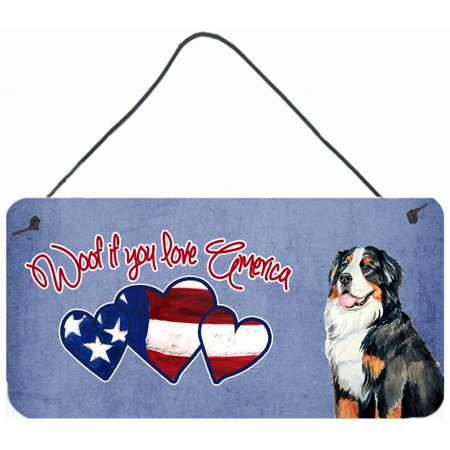 Woof if you love America Bernese Mountain Dog Wall or Door Hanging Prints
