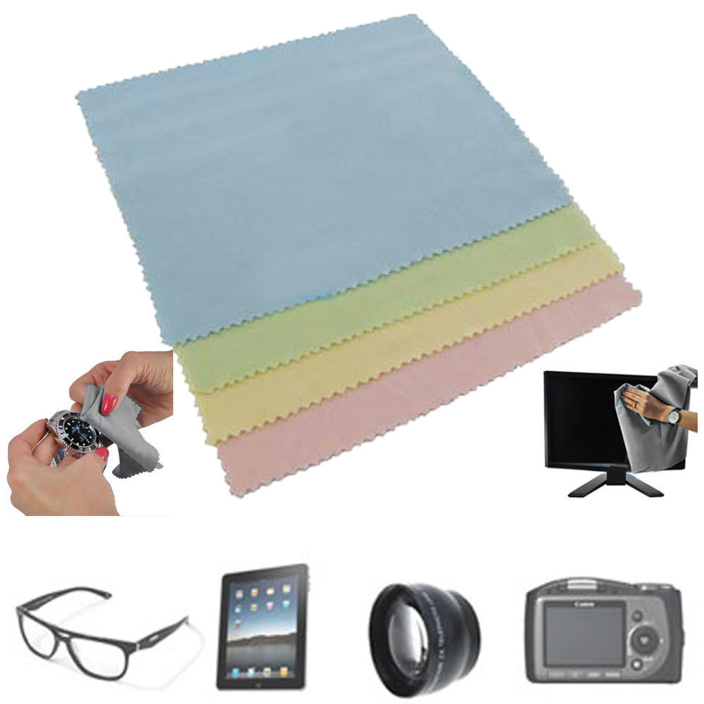4 Microfiber Optical Cleaning Cloth Dvd Lcd Camera Lens Screen Clean Cloth Towel