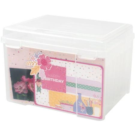 6 Pocket Organizer Translucent Cover (We R Craft & Photo Translucent Plastic Storage-11