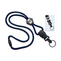 Heavy Duty Breakaway Lanyard With Detachable Key Ring by Specialist ID Sold Individually (Navy Blue)