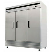 Atosa USA MBF8504 Series Stainless Steel 82-Inch Three Door Upright Freezer Energy Star Rated by Atosa