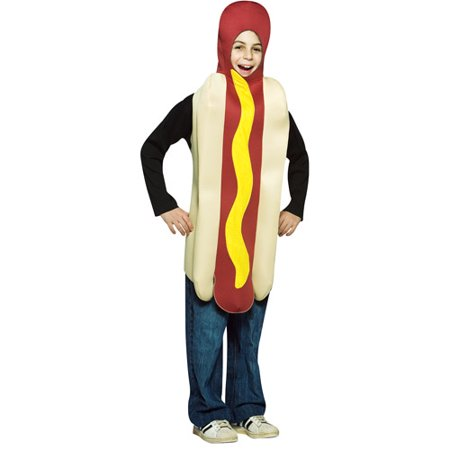 Hot Dog Child Halloween Costume - One Size (Dog Halloween Costume Ideas Homemade)