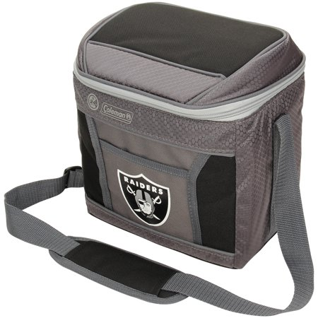 Oakland Raiders Coleman 9-Can 24-Hour Soft-Sided Cooler - No Size