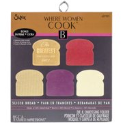 Sizzix Where Women Cook Sliced Bread Bigz Die And Embossing Folder