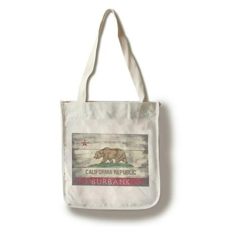 Burbank, California - Rustic California State Flag - Lantern Press Artwork (100% Cotton Tote Bag - Reusable) - Walmart Burbank California