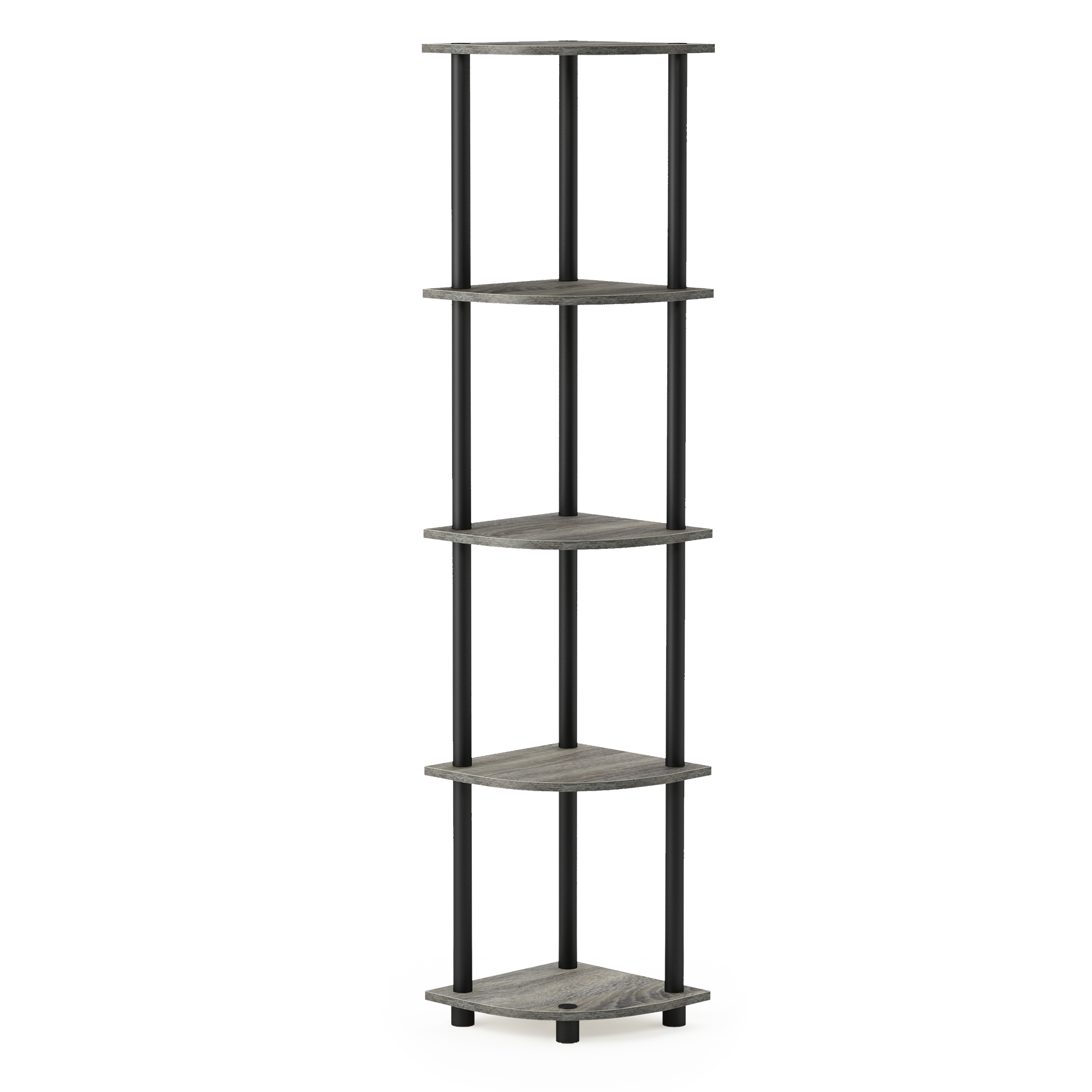 Furinno Turn-N-Tube Corner Display Rack Multipurpose Shelving Unit, Multiple Colors