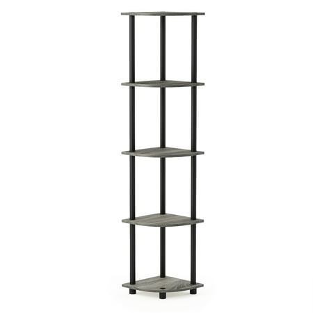 Turn-N-Tube Corner Display Rack Multipurpose Shelving Unit, Multiple Colors