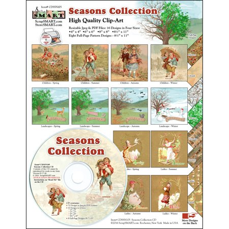 ScrapSMART Seasons Collection CD-ROM: Vintage and Contemporary Images for Scrapbook, Craft, Sewing