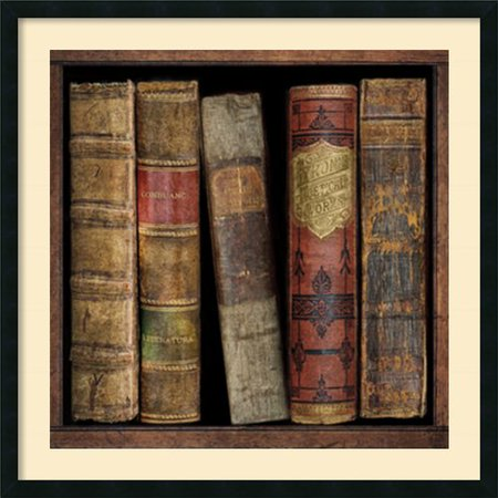 Amanti Art 'In The Library I' by Russell Brennan Framed Graphic Art