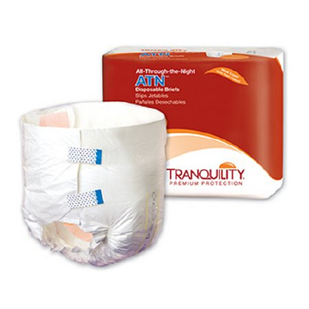 Tranquility Atn Adult Incontinent Brief Tab Closure Disposable Heavy Absorbency