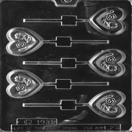 Cybrtrayd L022 Letters and Numbers Chocolate Candy Mold, No.15 Rose Heart