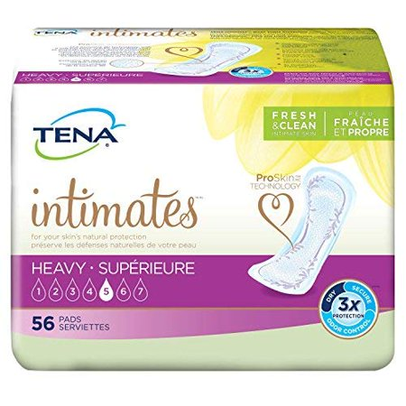 Serenity Driactive Slender Pads - SCA Personal Care Tena Serenity Pad, Heavy Absorbency Super Absorbent Polymer, Regular, Pkg of 56 - Model 49400