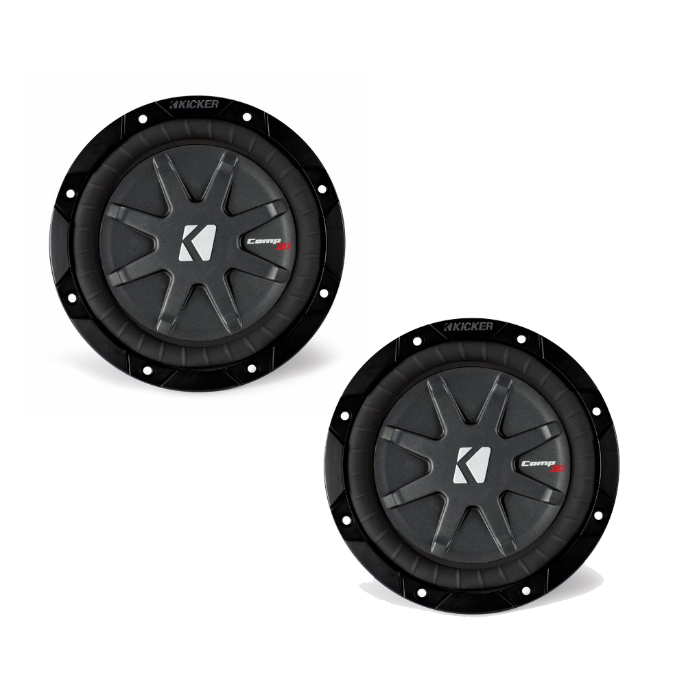 """Kicker CompRT package - Two 8"""" CompRT Subwoofers Dual 1 Ohm 40CWRT81"""