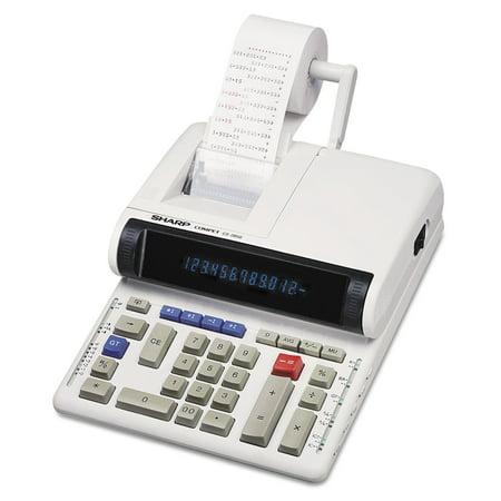 Sharp Cs 2850A Two Color Printing Calculator  Black Red Print  4 8 Lines Sec