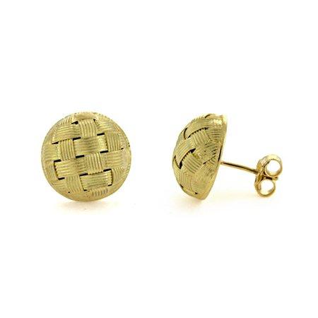 18k Yellow Gold Braid Earrings - 5.0 Grams