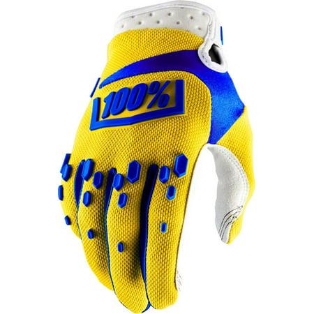 100% Airmatic Full Finger Glove Yellow LG