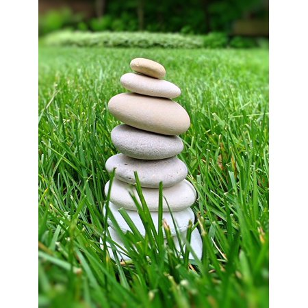 Rock Stack (Canvas Print Harmony Stones Stacked Relax Rock Balance Stretched Canvas 10 x 14)