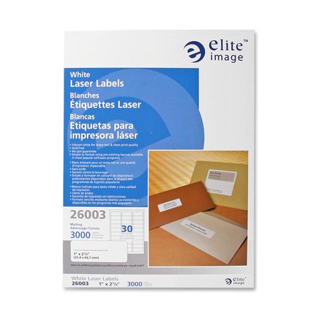 Labels Images (Elite Image, ELI26003, White Mailing/Address Laser Labels, 3000 / Pack, White )
