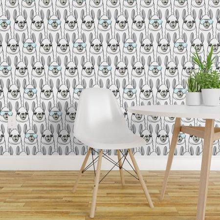 Wallpaper Roll Llama Alpaca Animals Aviator Glasses Trendy Kids 24in x