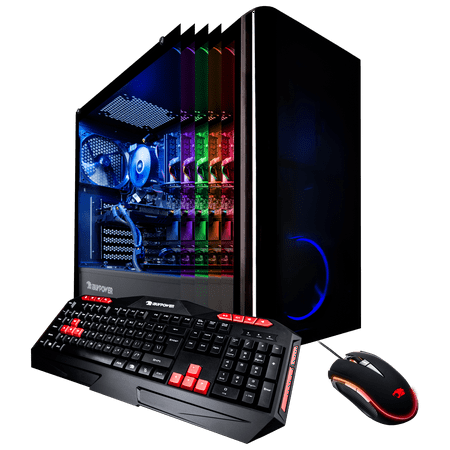 iBUYPOWER View9000W - Gaming Desktop PC - VR Ready - Intel i7 8700 - 16GB Memory - NVIDIA GeForce GTX 1070 8GB - 240GB SSD - 1TB Hard Drive - Wi-Fi - Windows 10 Home 64-Bit (Available in