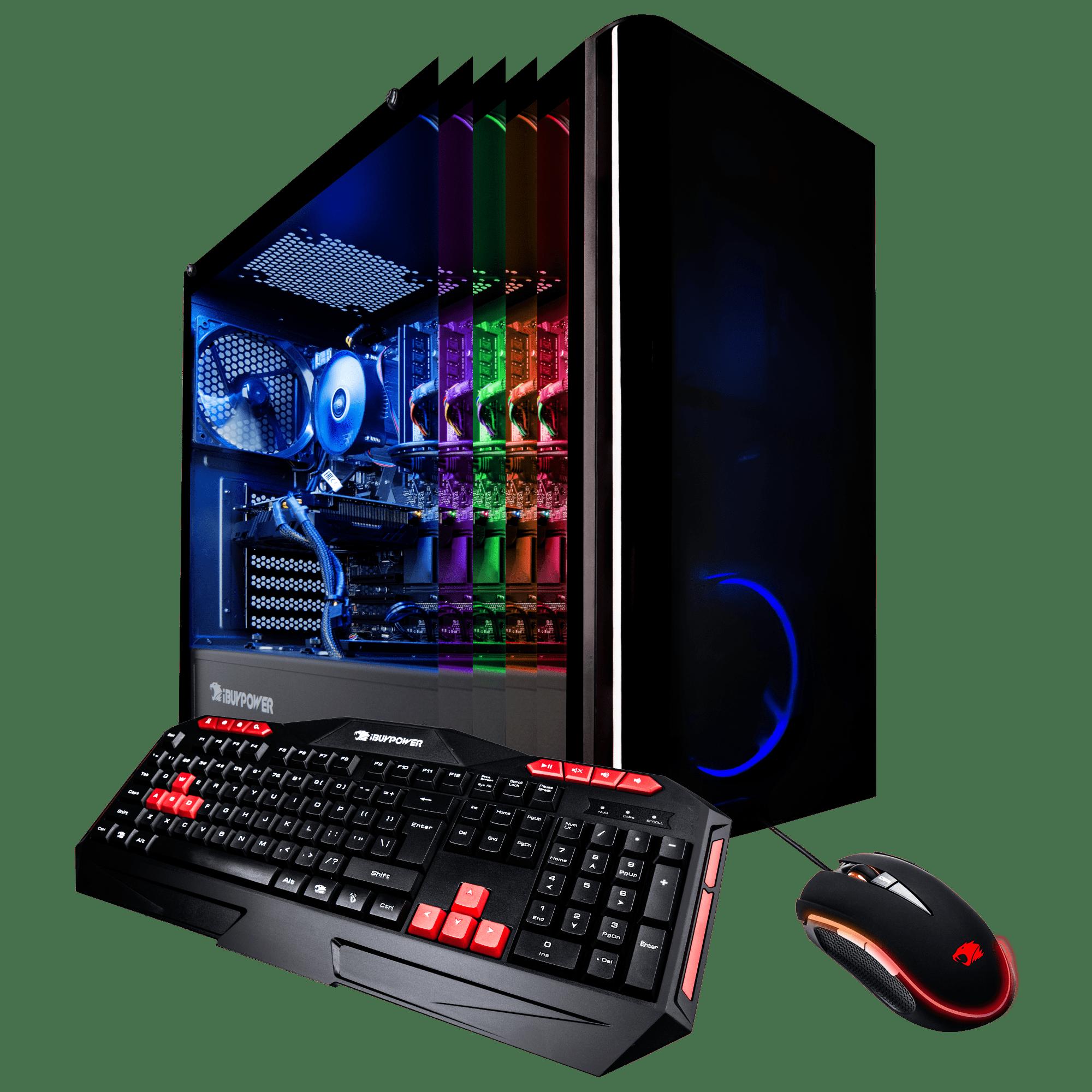 iBUYPOWER View9000W - Gaming Desktop PC - VR Ready - Intel i7 8700 - 16GB Memory - NVIDIA GeForce GTX 1070 8GB - 240GB SSD - 1TB Hard Drive - Wi-Fi - Windows 10 Home 64-Bit (Available in stores)