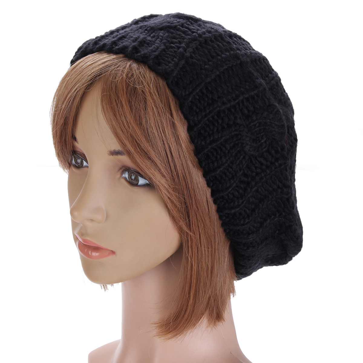 42685e90d13 New Women Lady Winter Warm Knitted Crochet Slouch Baggy Beret Beanie Hat Cap