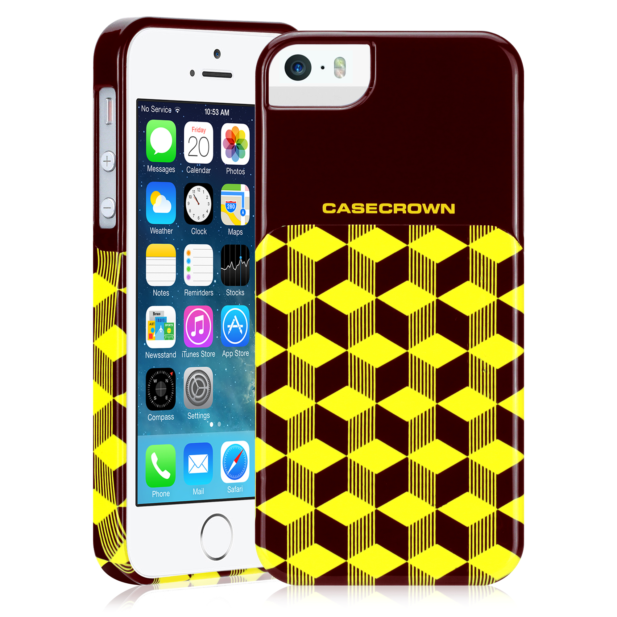 CaseCrown GeoBlock Case (Yellow) for Apple iPhone 5