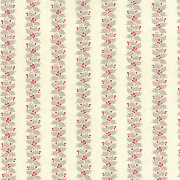 Moda 3 Sisters Holly Woods Christmas Holly Stripe Natural