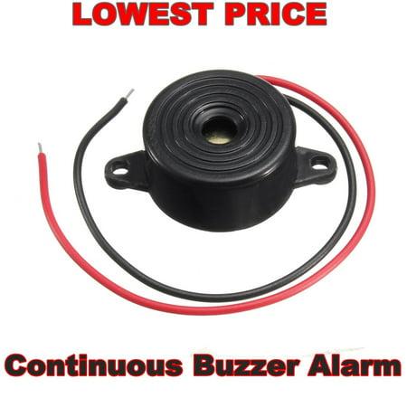 2Pcs 3-24V 95DB Black Piezo Electronic Tone Buzzer Alarm buzzer with Mounting Holes