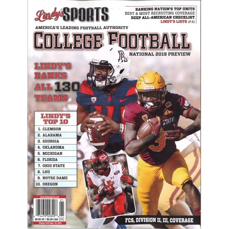 Lindy's Sports 2019 College National Football Preview (Covers